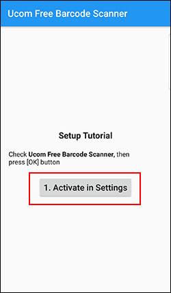 Android barcode scanner Ucom Setup Tutorial