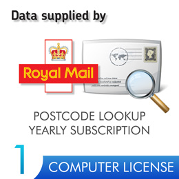 Postcode Lookup PIN 1 Computer 12 Months