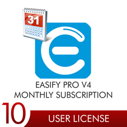 Easify Pro V4 - 10 User Licenses Monthly Subscription