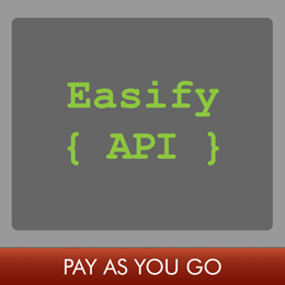 Easify API 1 Month Subscription