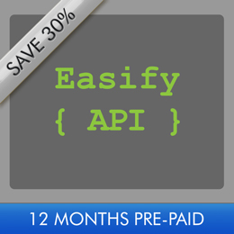 Easify API 12 Month Subscription
