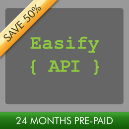 Easify API 24 Month Subscription