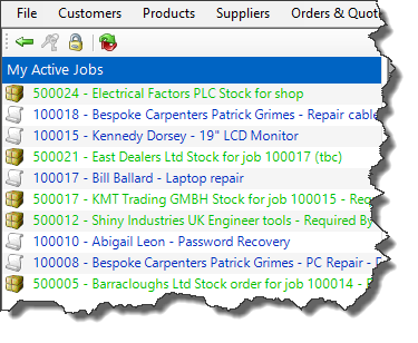 Easify active jobs list